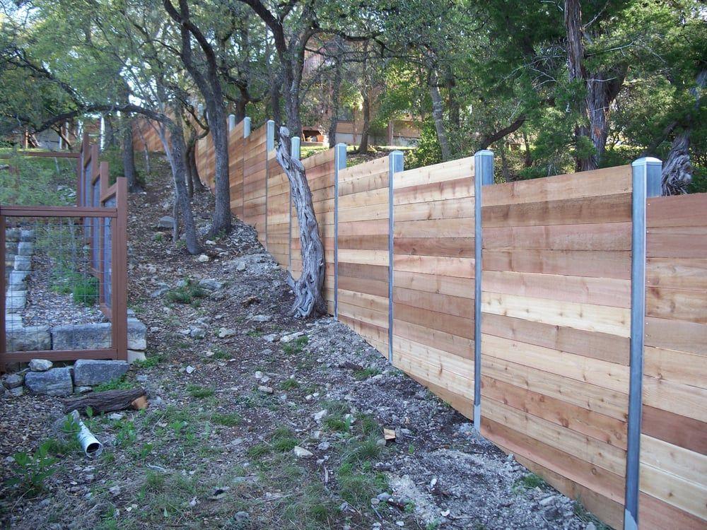 Photo Of Viking Fence Austin Tx United States Fence Design Privacy Fence Designs Metal Fence Posts
