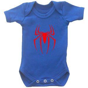 Spiderman Baby Baby Vest Babygrow Novelty Baby Shower Superhero Baby Novelty