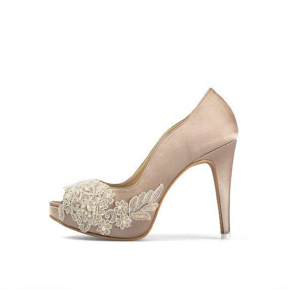 f8dc36c8270 Miss Ace 2 Dark Champagne Wedding Heels