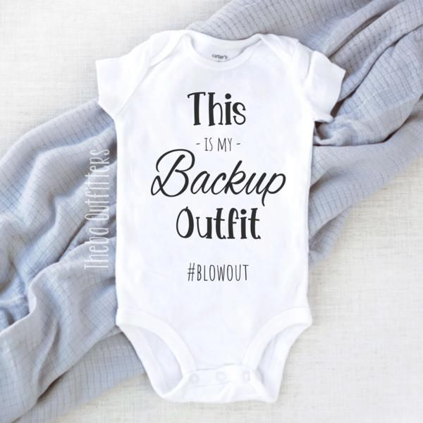'Blowout' Onesie/ Funny – Theba Outfitters #babyshirts