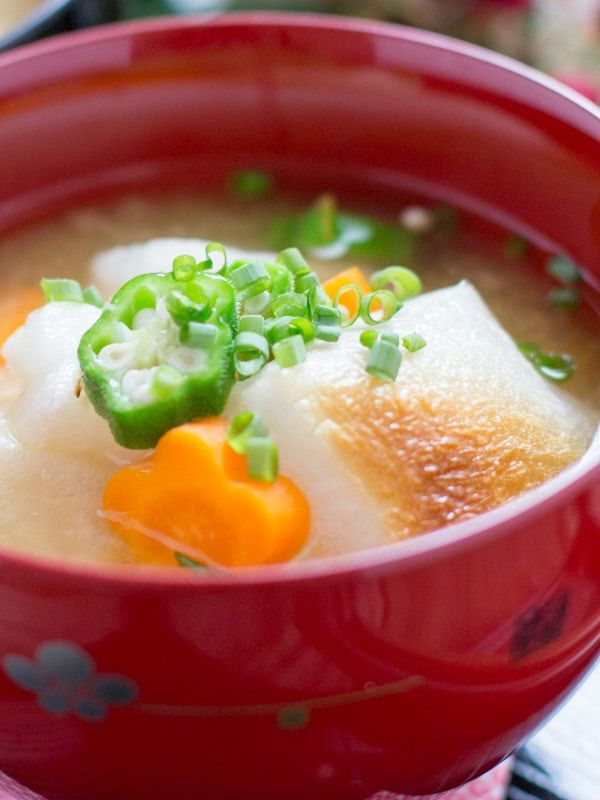 Ozoni - Miso Soup and Mochi | Ozoni soup recipe, Asian ...