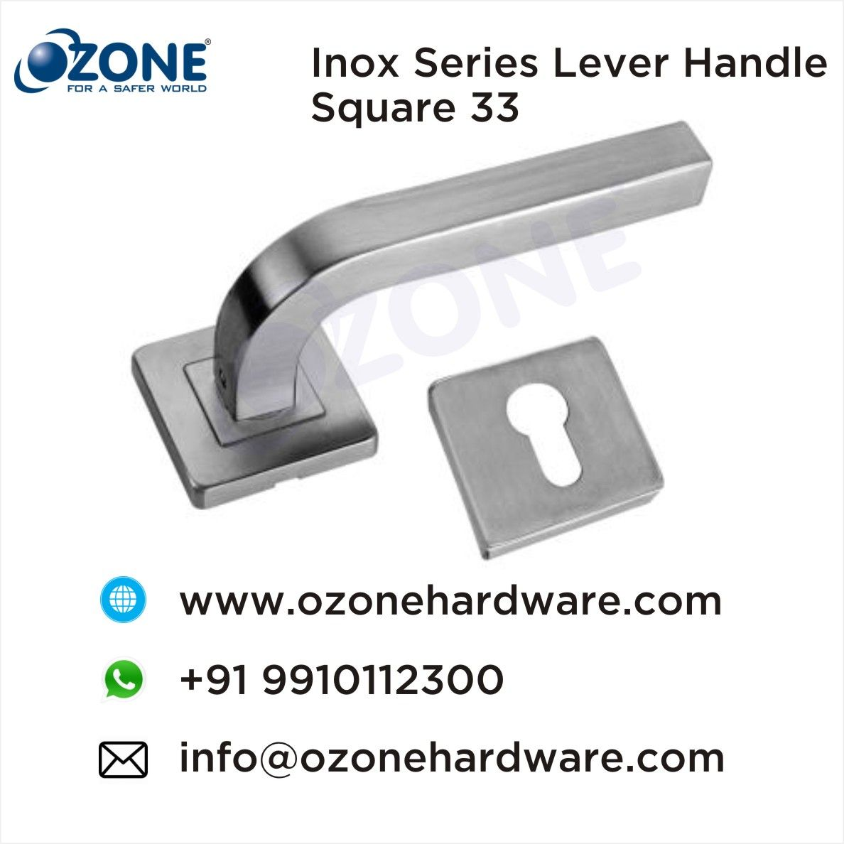 Inox Series Lever Handle Square 33 Door Lever Handles Modern Door Levers Manufacturers Exporters Of Door Handles Door Handles Lever Handle Metal Door