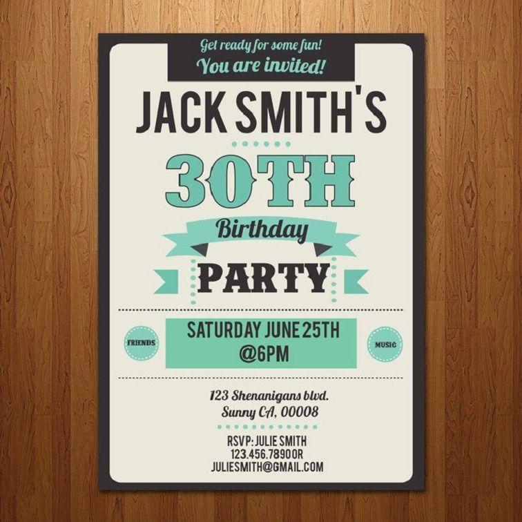 30th Birthday Invitations Australia
