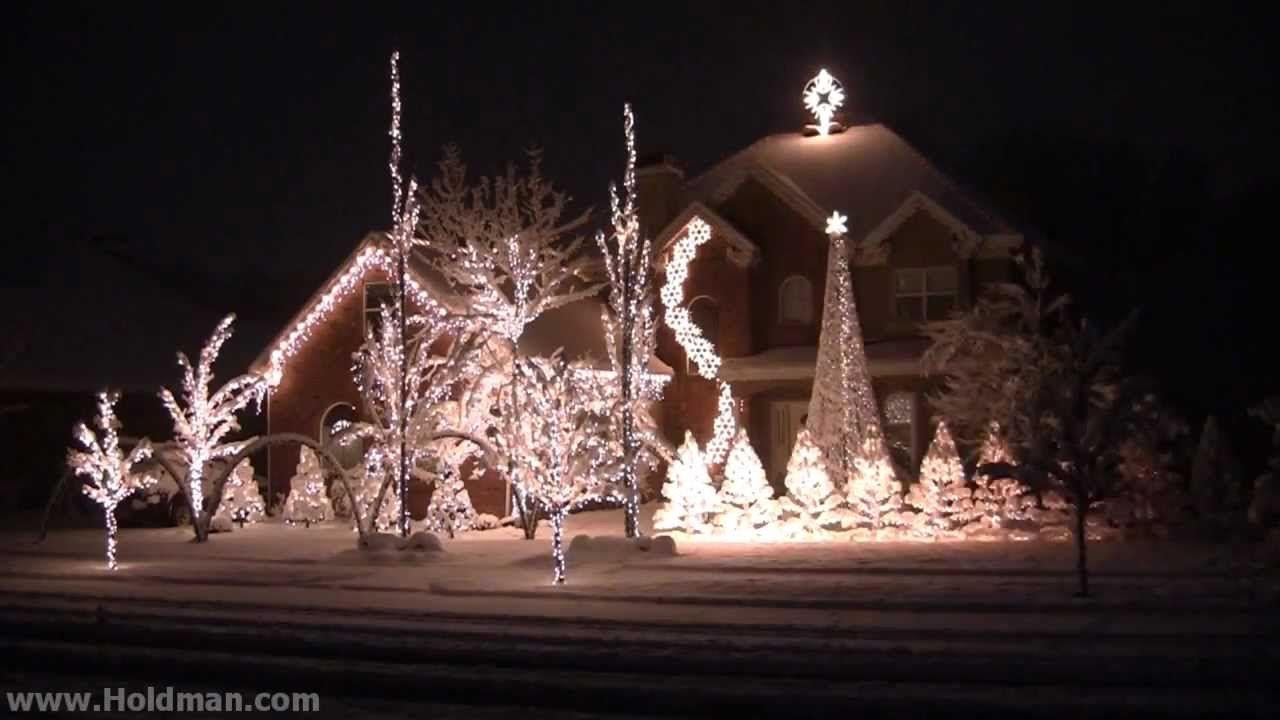 holdman christmas lights complete show wwwtablescapesbydesigncom httpswww - Christmas Light Show Youtube