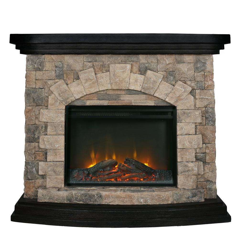 Casainc 23 In Insert Retro Stone Pattern 45 In Freestanding Electric Fireplace Indoor Heater In Brown Crk209066 The Home Depot Electric Fireplace Fireplace Free Standing Electric Fireplace