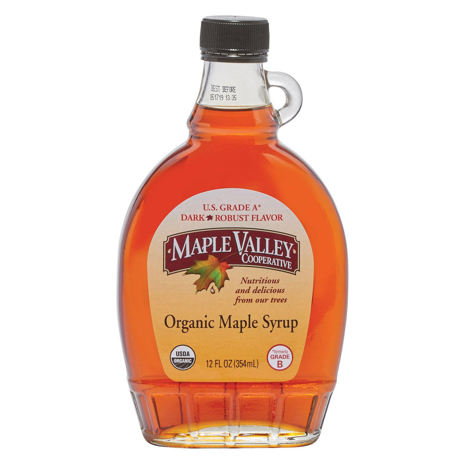 Maple valley cooperative organic maple syrup grade b