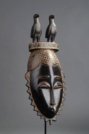 Africa | Mask from the Yaoure people of the Ivory Coast | Wood | Image ©Michel Renaudeau