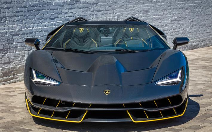 Download Wallpapers Lamborghini Centenario 2017 Roadster Front