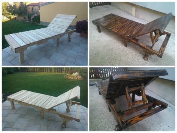 Very nice lounge chair made from upcycled wooden pallets!