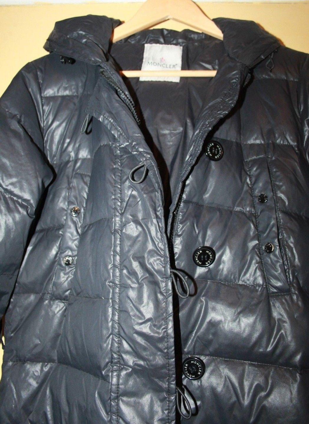 9210c709a Moncler Pop Star Black Down Puffer Hooded Jacket Coat Size 2 UK 10 ...