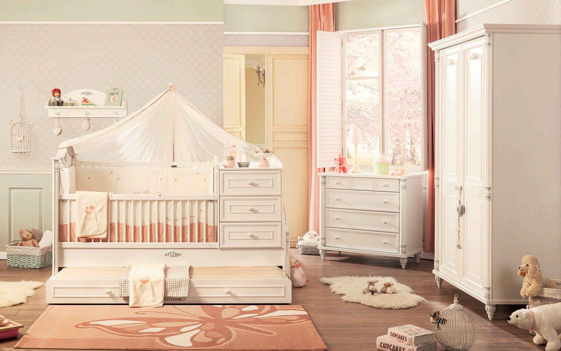 Babybed Met Kast.Romantic Babybed Peuterbed Kast Babykamers Peuterkamers