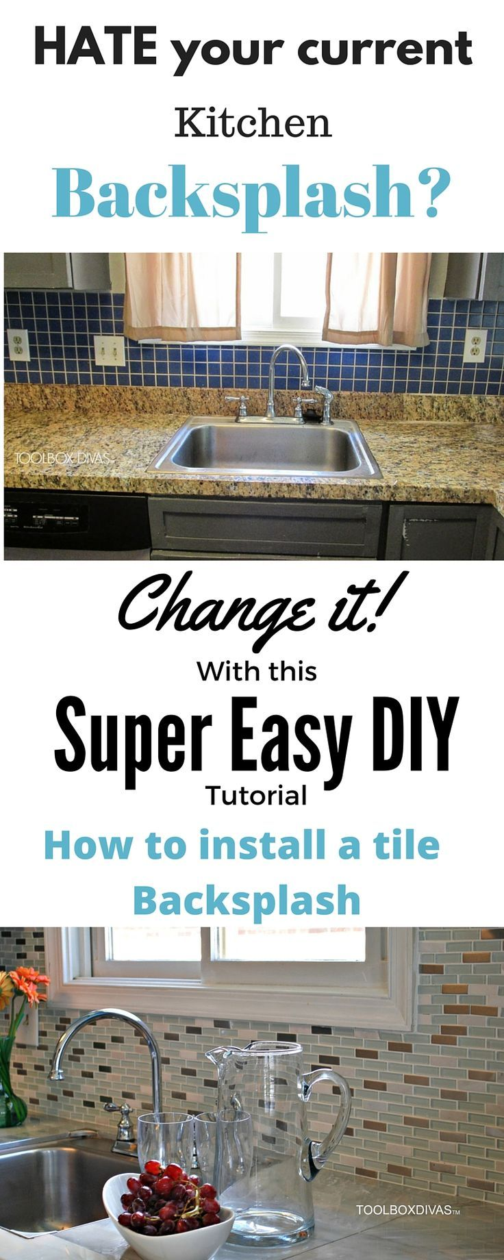 How To Install A Kitchen Tile Backsplash The Easy Way Remove