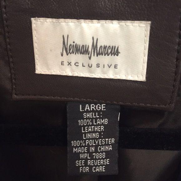 Selling this Lamb Leather jacket! Dark brown in my Poshmark closet! My username is: tashanahawaii. #shopmycloset #poshmark #fashion #shopping #style #forsale #Neiman Marcus #Jackets