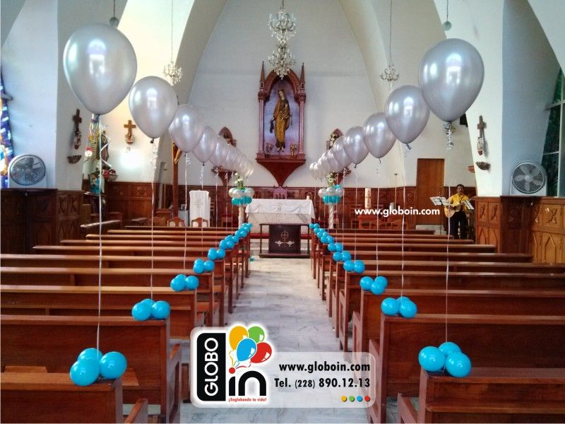 Decoraci n con globos para iglesia decoraciones para xv for Decoracion con globos