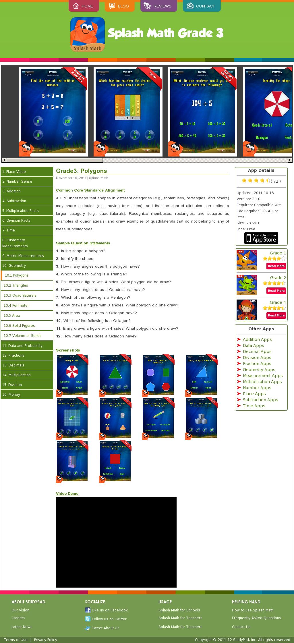 Studypadinc Com Third Grade Splash Math App Third Grade Common Core Math Math Practice Games Math Workbook [ 2239 x 1024 Pixel ]