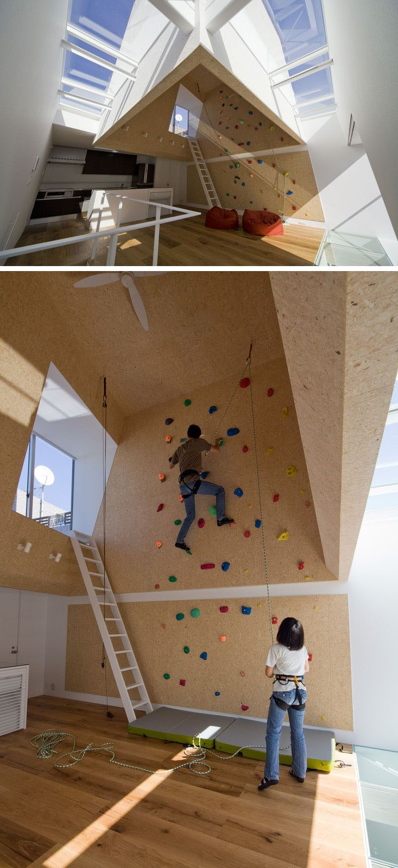 10 Modern Houses With Rock Climbing Walls Home Climbing Wall Rock Climbing Wall Modern House