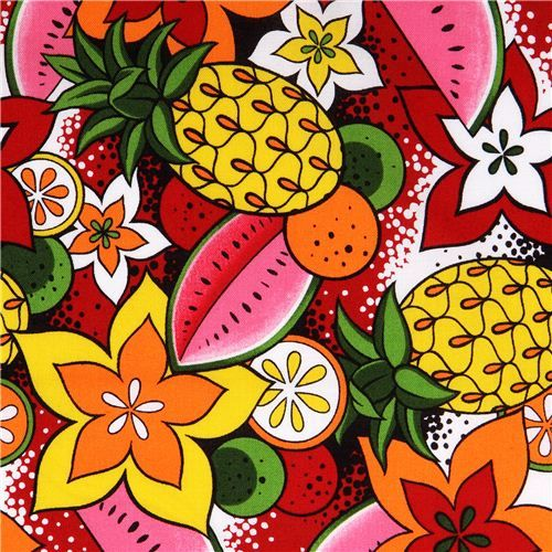 Slice of Hawaii fruit fabric by Alexander Henry USA