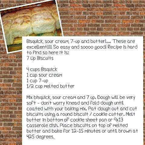 Bisquick, 7-up, sour cream biscuits
