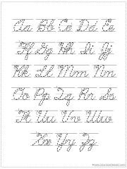 choose your own alphabet printable sheet. (print or cursive ...
