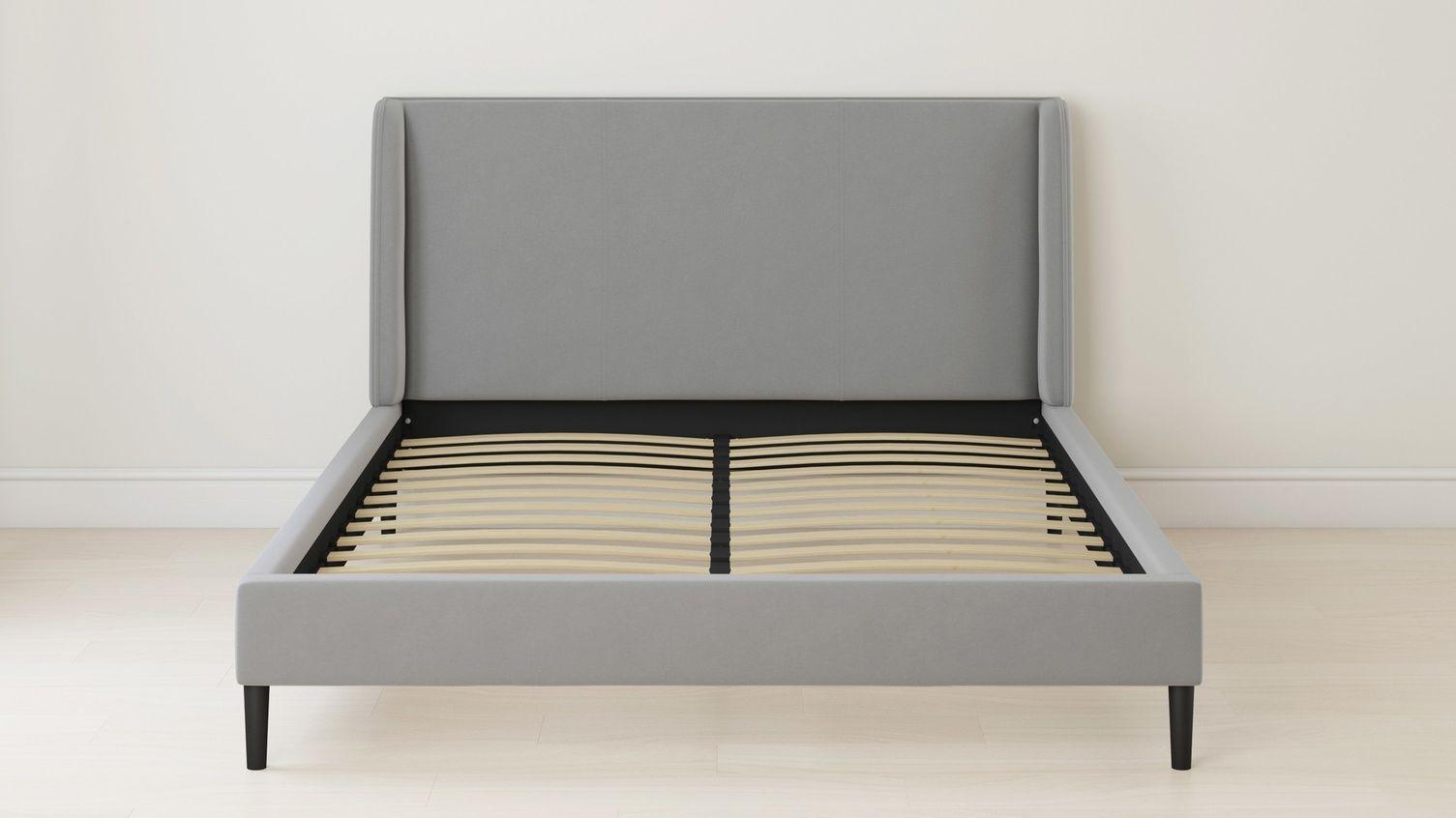 Best Paolo Feather Grey Velvet King Size Bed In 2020 Velvet 400 x 300