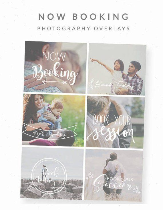 Now Booking Photography Template, Now Booking Overlay, Digital