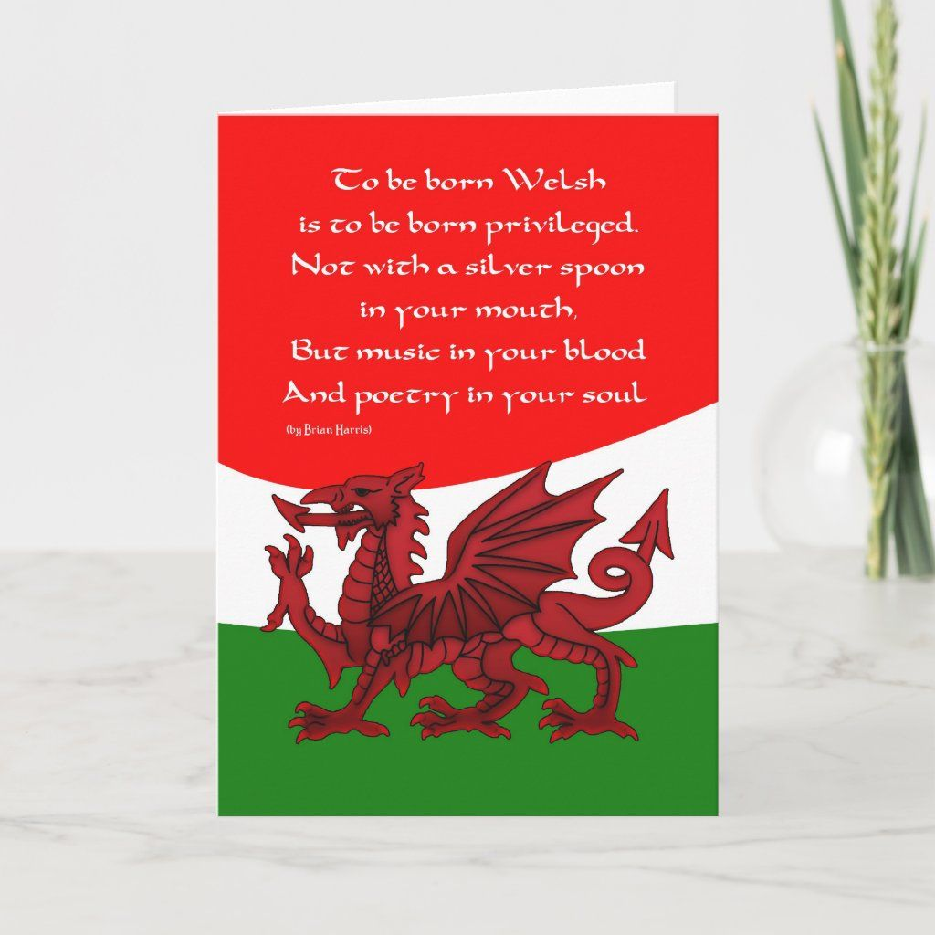 Welsh Dragon Card Poem By Brian Harris Zazzle Com In 2021 Poster Prints Welsh Dragon Dragon Poems