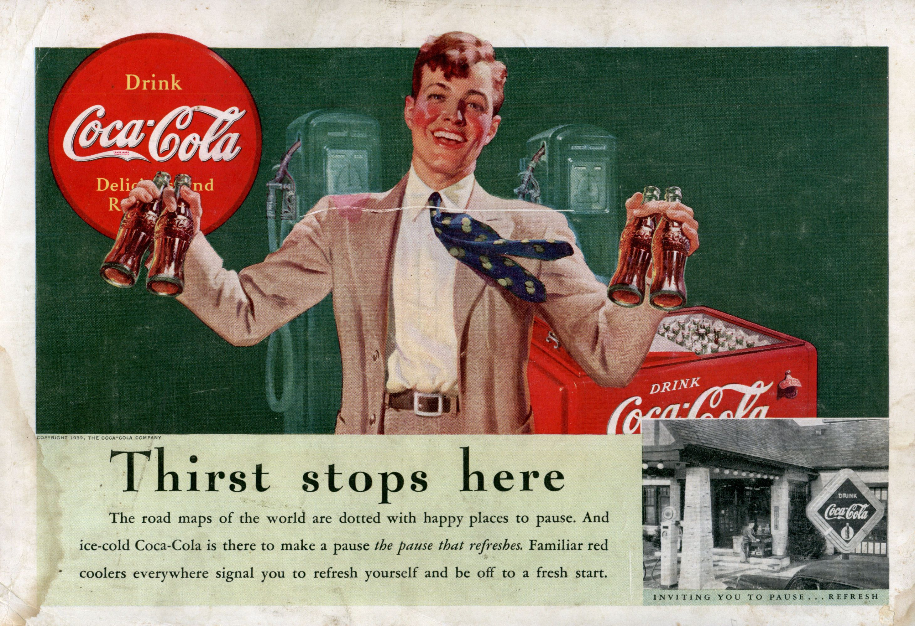 Thirst stops here  Coca-cola company | Vintage