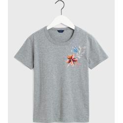 Photo of Gant Marine Paisley T-Shirt (Grau) Gant