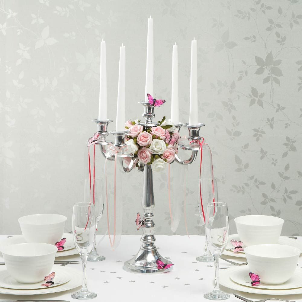 Silver Wedding Candelabra to dress up the head table | Wedding ...