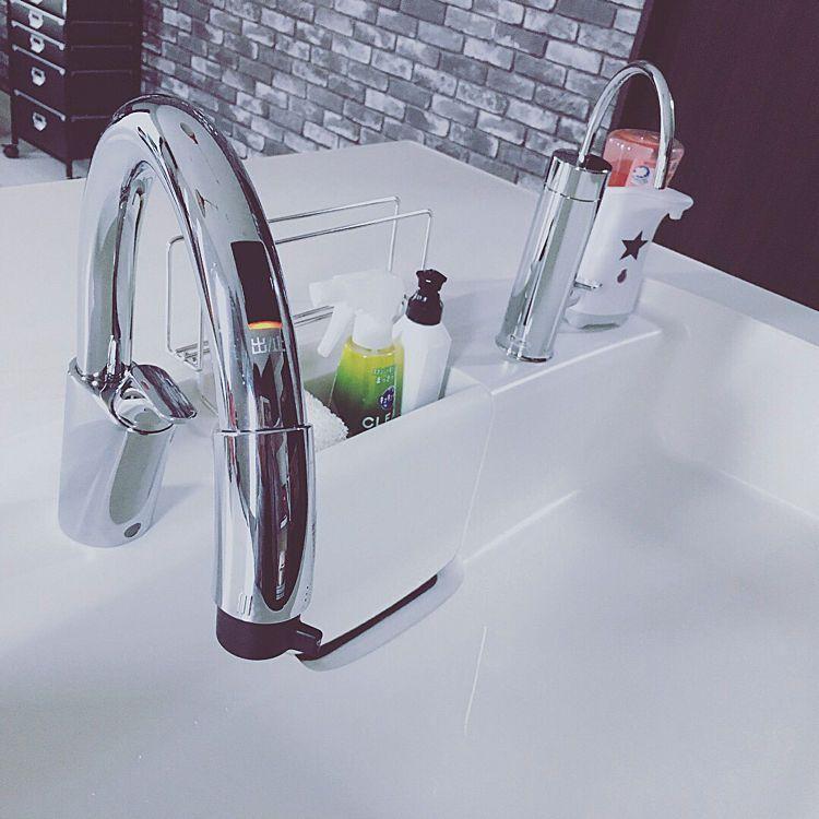 キッチン シンク Lixil 浄水器 タッチレス水栓のインテリア実例 2018