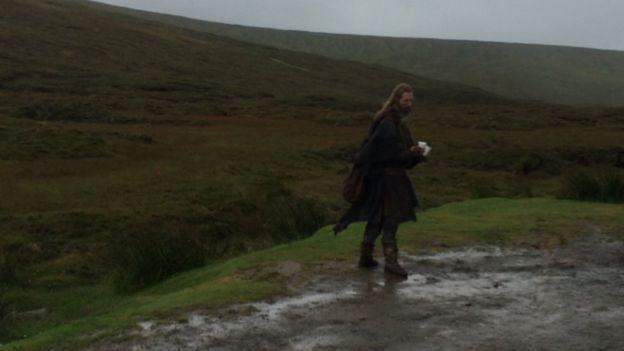 En el set de filmación Escocia