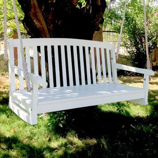 Highwood Eco Friendly Marine Grade Synthetic Wood Lehigh 4 Ft. Porch Swing |