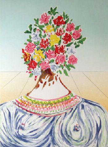 Salvador Dali, The Flowering of Inspiration (Gala en Fleurs)