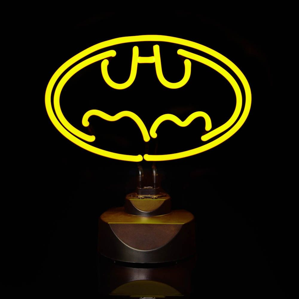Batman neon lovely warming seedy neon glow pinterest neon glow beaming up the outline of the classic batman logo and comes complete with a table baseght features table base uk plug light size x ins base buycottarizona