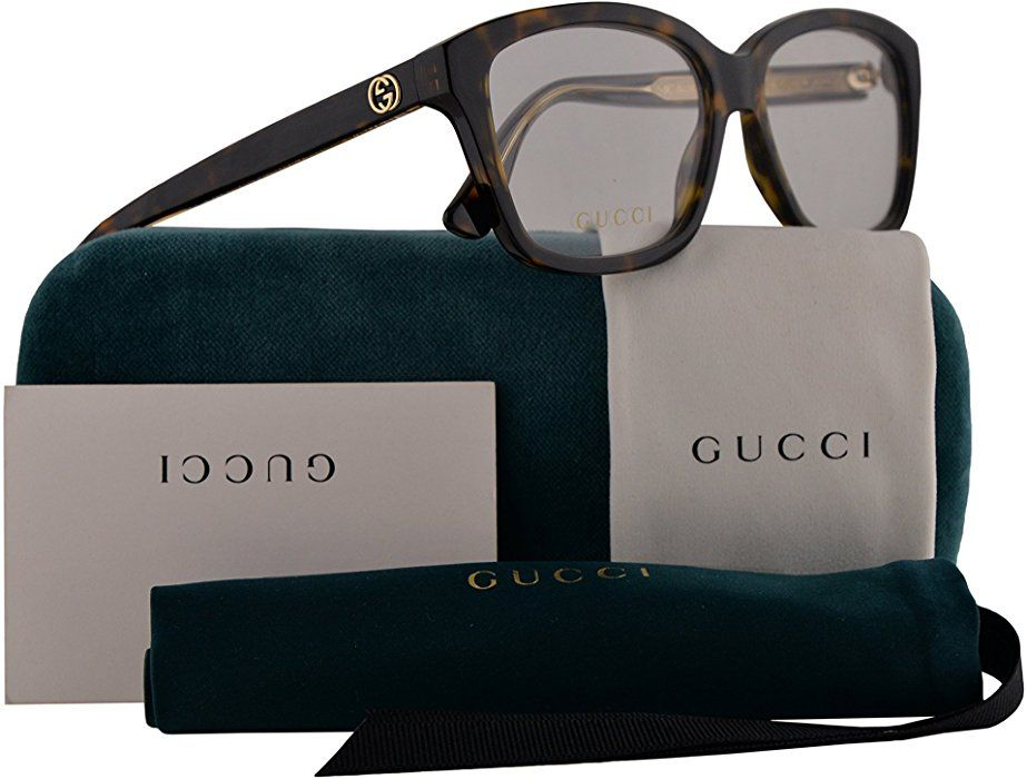 b0236aefc7a Amazon.com  Gucci GG0311O Eyeglasses 55-15-140 Havana w Demo Clear ...