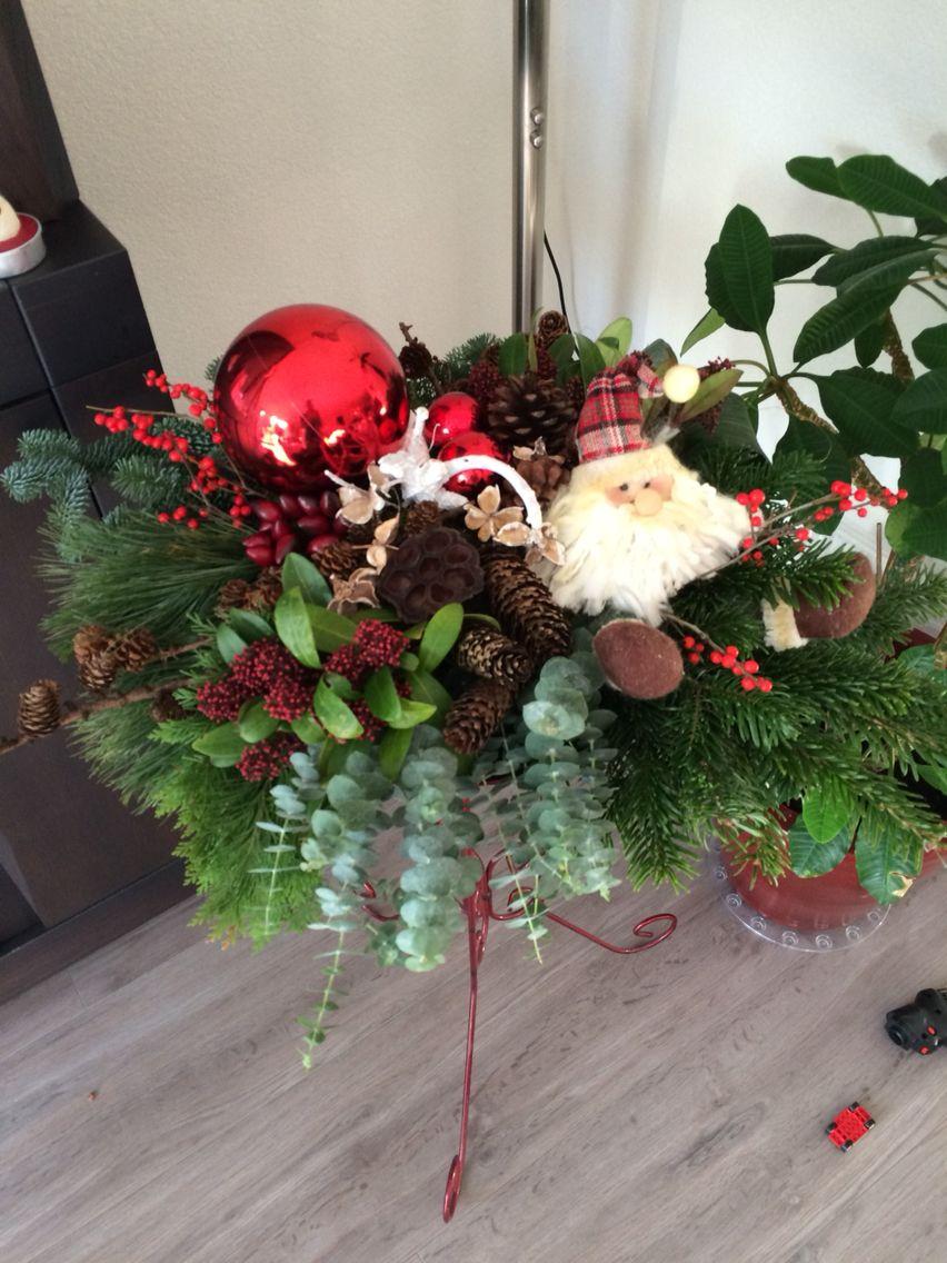 Kerststuk op schaal