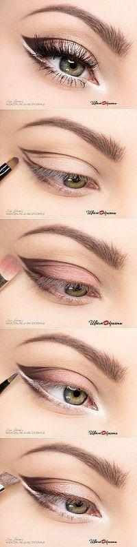 Makeup Ideas: Paso maquillaje para los ojos de luz