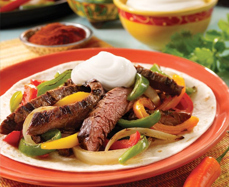 Beef Fajitas Good food really does taste better with Daisy Sour Cream. Maybe that's because it's 100% pure, 100% natural, with nothing added—and it's a creamy complement to dips, main dishes, and desserts.