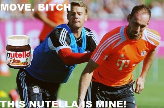 Neuer and his Nutella!