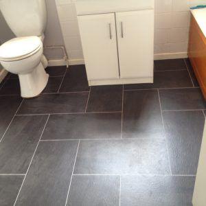Dark Grey Rectangular Floor Tile   our bathroom   Pinterest   Dark ...