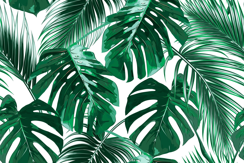Removable Wallpaper Mural Peel Stick Tropical Palm Leaves Etsy Palm Trees Wallpaper Tree Wallpaper Leaf Wallpaper