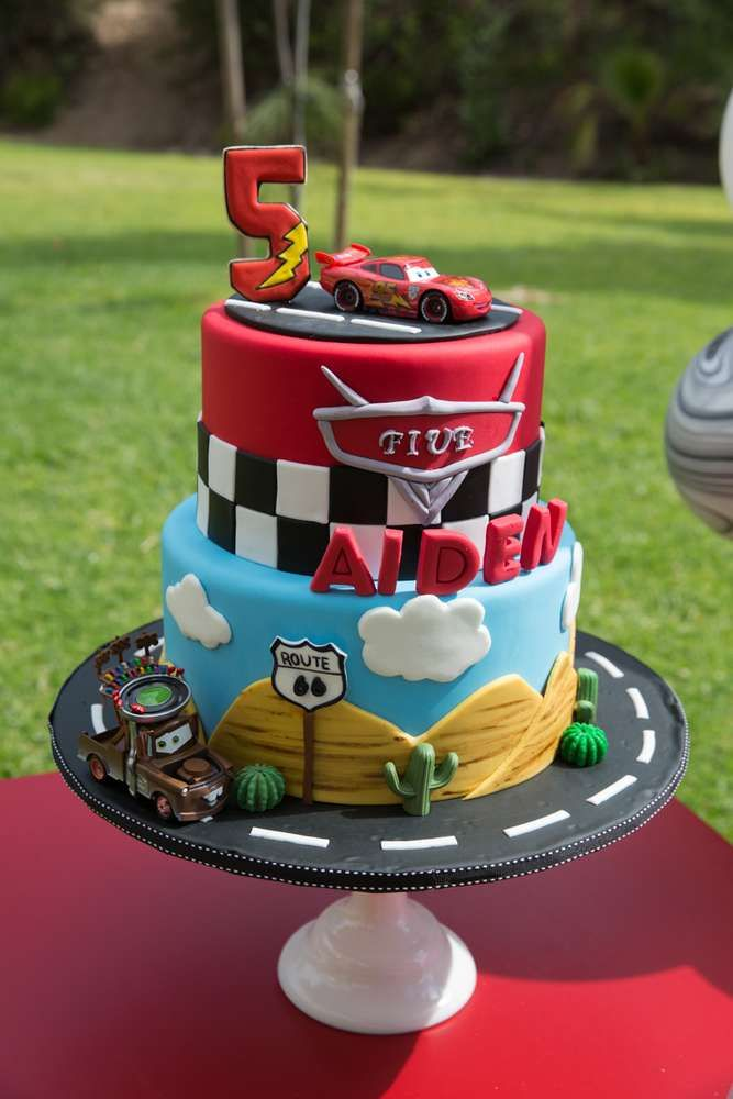 Remarkable Cars Disney Movie Birthday Party Ideas Cars Birthday Cake Personalised Birthday Cards Veneteletsinfo