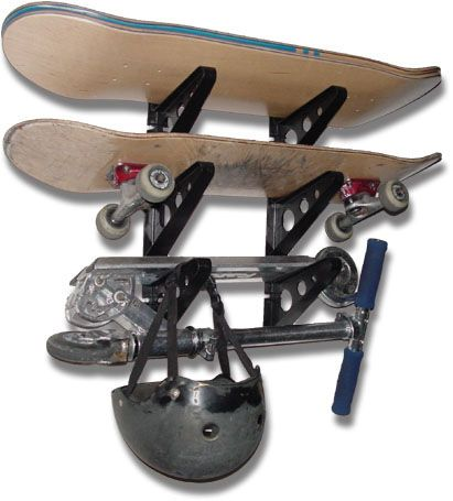 Skateboard Storage Rack | Triple Rack $19.99 #skateboardrack  #skateboardstorage #storeyourboard
