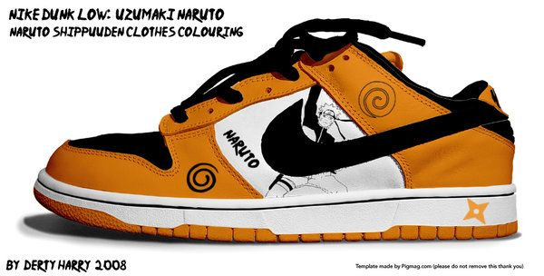 buy online 8d86f 13f88 Nike Dunk Low Uzumaki Naruto by ~DertyHarry on deviantART.......UTTERLY  SPEECHLESS....EXCEPT THAT THESE ARE FREAKIN AWESOME!!!