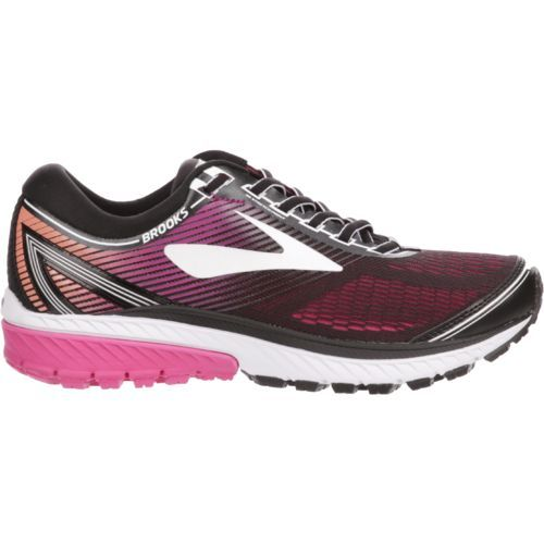 Brooks Women's Ghost 10 Running Shoes (Black/Purple/Hot Pink, Size 11) - Women's Running Shoes at Academy Sports