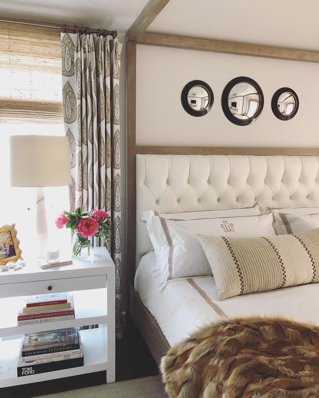 Neat idea for low ceiling'd bedroom (like ours!) Erin ...