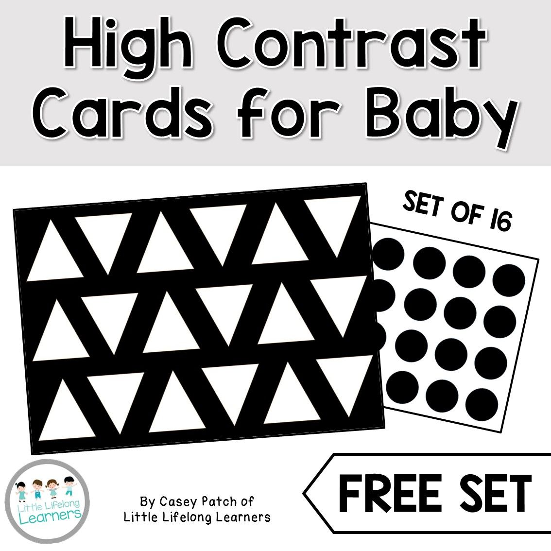 High Contrast Cards For Baby High Contrast Images Baby Development Baby Sensory