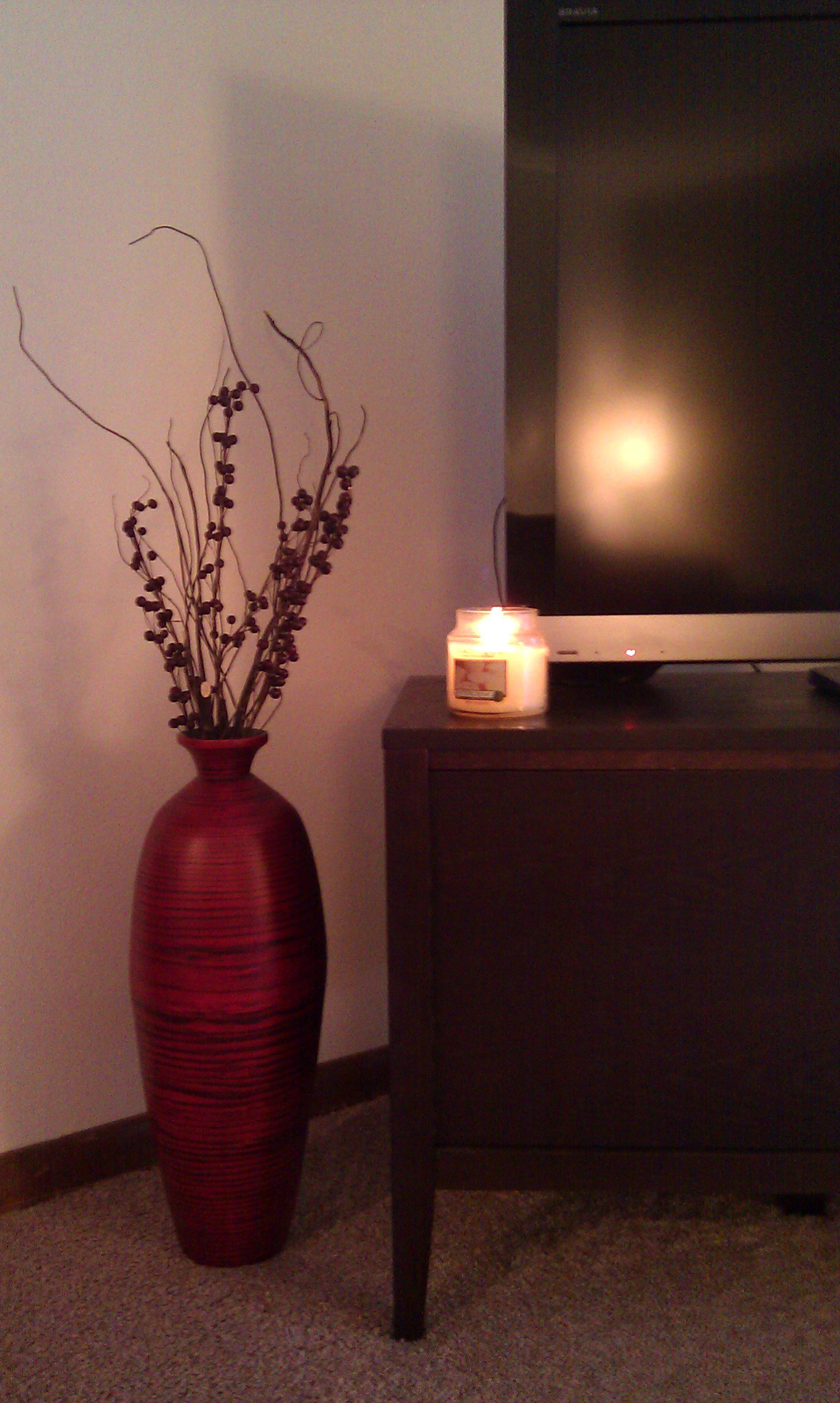 Updated My Floor Vase For Fall Winter Thanks Hobby Lobby Home Bedroom Floor Vase Sweet Home