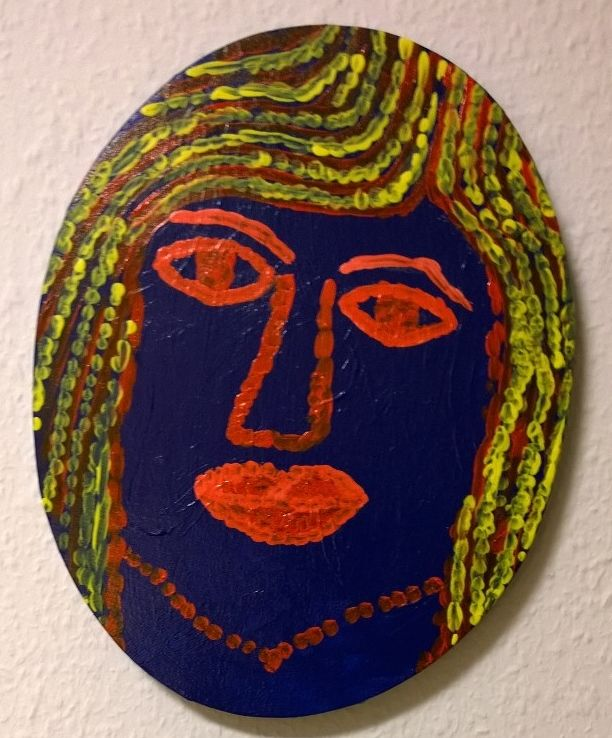 Akryl på lærred - 30x23 cm