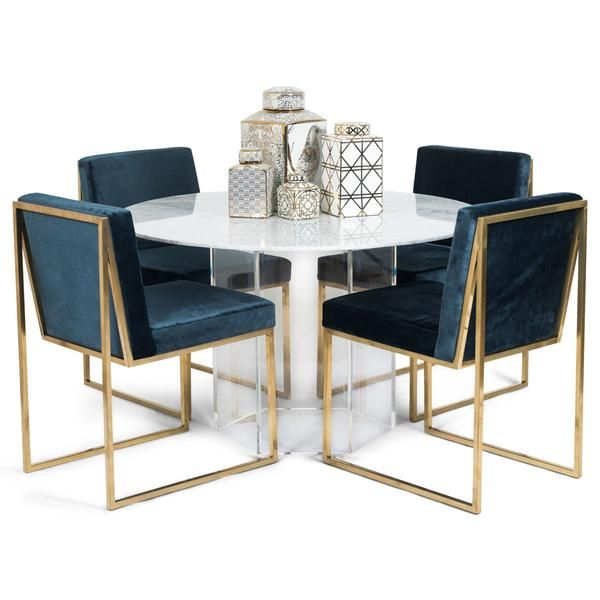 Iceland Dining Table With Hexagon Lucite Base For The Home